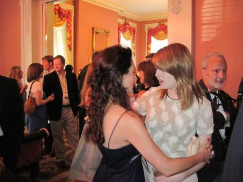 With Emma Stone